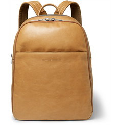 Brunello Cucinelli - Suede-Panelled Leather Backpack