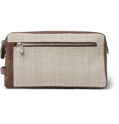 Brunello Cucinelli - Canvas and Leather Wash Bag