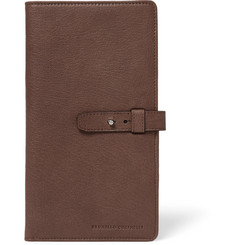 Brunello Cucinelli - Textured-Leather Travel Wallet