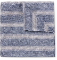 Brunello Cucinelli - Double-Faced Printed Linen and Cotton-Blend Pocket Square