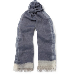 Brunello Cucinelli Striped Linen Scarf