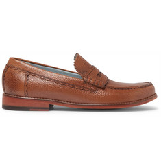 Grenson Ashley Pebble-Grain Leather Penny Loafers