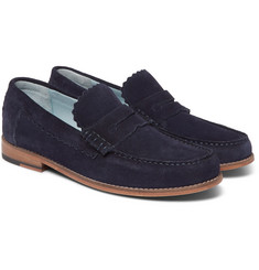 Grenson - Ashley Suede Penny Loafers