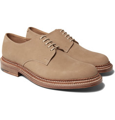 Grenson - Curt Triple-Welted Nubuck Derby Shoes