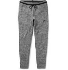 Nike Slim-Fit Tapered Stretch Cotton-Blend Tech Knit Sweatpants