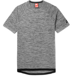 Nike Sportswear Slim-Fit Mélange Tech-Knit T-Shirt