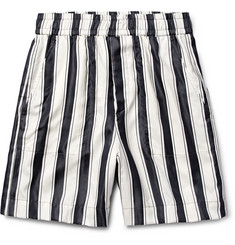 Haider Ackermann Striped Mohair Shorts