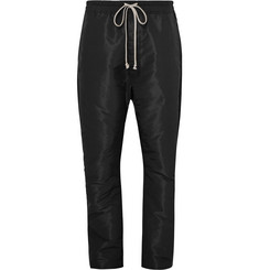 Rick Owens Contrast-Trimmed Shell Drawstring Trousers