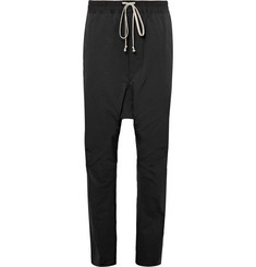 Rick Owens Cotton-Blend Shell Drawstring Trousers