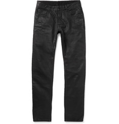 Rick Owens - Detroit Slim-Fit Coated Denim Jeans