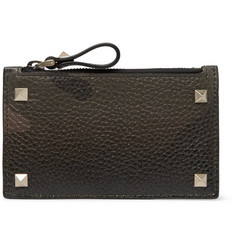Valentino - Rockstud Camouflage-Print Full-Grain Leather Zipped Cardholder