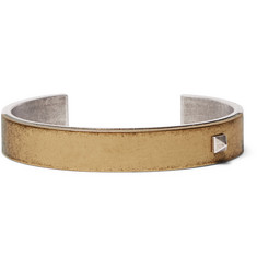 Valentino Burnished Silver-Tone and Gold-Tone Cuff