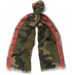 Valentino - Camouflage-Print Wool-Blend Scarf