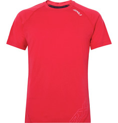 2XU - X-CTRL Mesh-Panelled Stretch-Jersey T-Shirt