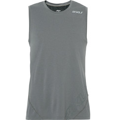2XU X-CTRL Mesh-Panelled Stretch-Jersey Tank Top