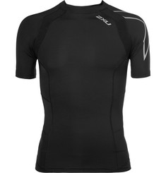 2XU TR2 Mesh-Panelled Compression Running T-Shirt