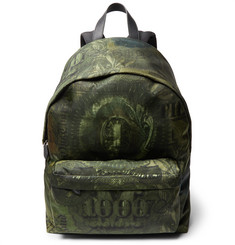 Givenchy Leather-Trimmed Dollar-Print Shell Backpack