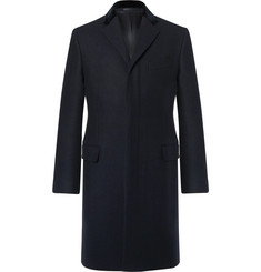 Kent & Curwen Slim-Fit Velvet-Trimmed Virgin Wool-Felt Epsom Coat