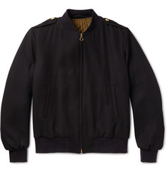 Kent & Curwen Virgin Wool-Twill Bomber Jacket