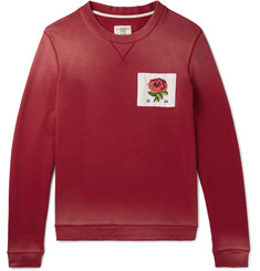 Kent & Curwen Slim-Fit Appliquéd Loopback Cotton-Jersey Sweatshirt