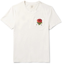 Kent & Curwen Appliquéd Cotton-Jersey T-Shirt