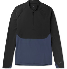 Nike NikeLab Essentials Stretch-Crepe and Dri-FIT Top