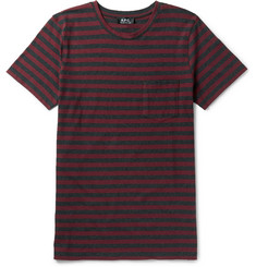 A.P.C. Slim-Fit Striped Cotton-Jersey T-Shirt