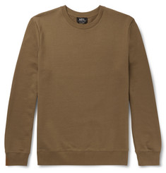 A.P.C. Slim-Fit Loopback Cotton-Jersey Sweatshirt