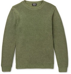 A.P.C. Anton Slim-Fit Ribbed Cotton Sweater