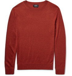 A.P.C. Nick Merino Wool and Silk-Blend Sweater