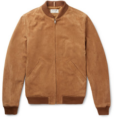 A.P.C. - + Louis W The Ferris Slim-Fit Suede Bomber Jacket