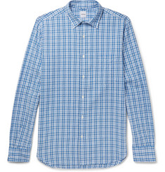 Aspesi Checked Cotton-Seersucker Shirt