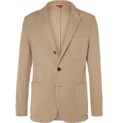 Barena - Beige Slim-Fit Slub Cotton-Jersey Blazer