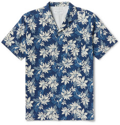 Officine Generale Dario Camp-Collar Printed Cotton-Voile Shirt