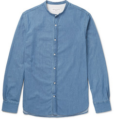 Officine Generale Gaspard Grandad-Collar Denim Shirt