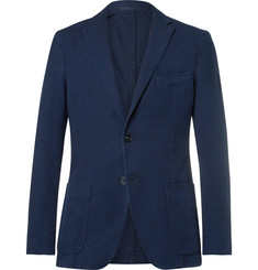 Officine Generale - Blue Slim-Fit Cotton-Seersucker Suit Jacket