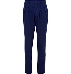 Officine Generale Tapered Cotton-Seersucker Suit Trousers