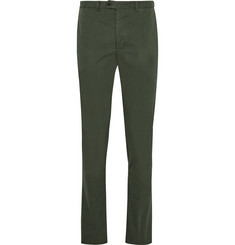 Officine Generale Slim-Fit Garment-Dyed Cotton-Twill Suit Trousers
