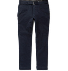 Officine Generale Julian Belted Cotton-Twill Chinos