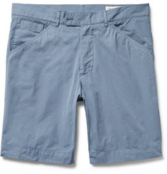 Officine Generale Garment-Dyed Cotton-Poplin Shorts