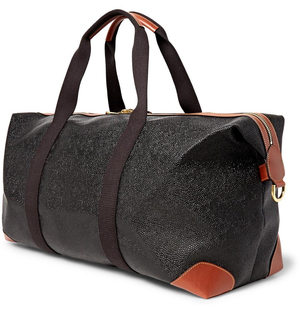 Mulberry Medium Clipper Pebble-Grain Leather Holdall