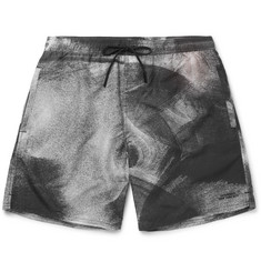 Saturdays NYC Timothy Slim-Fit Mid-Length Printed Swim Shorts