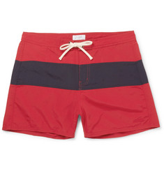 Saturdays NYC Grant Short-Length Colour-Block Faille Swim Shorts