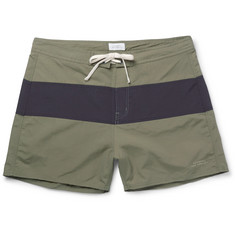 Saturdays NYC Grant Short-Length Two-Tone Faille Swim Shorts