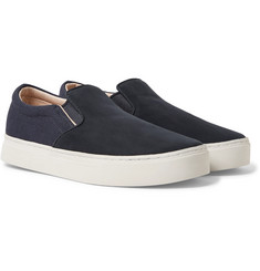 Saturdays NYC - Vass Nubuck and Canvas Slip-On Sneakers