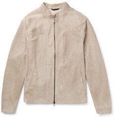 Loro Piana Slim-Fit Suede Blouson Jacket