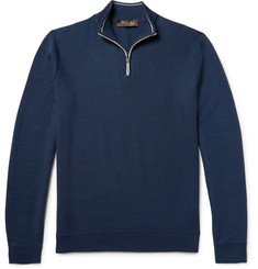 Loro Piana Cotton, Silk and Cashmere-Blend Half-Zip Sweater