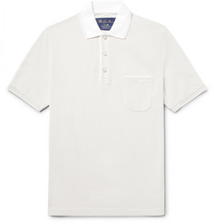 Loro Piana - Regatta Contrast-Tipped Stretch-Cotton Piqué Polo Shirt