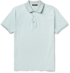 Loro Piana - Silk and Cotton-Blend Piqué Polo Shirt