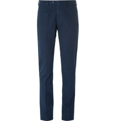 Loro Piana - Slim-Fit Washed Stretch-Cotton Trousers